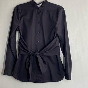 Tibi Black long sleeve button down shirt Sz 0